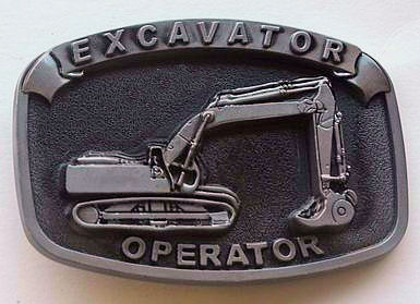 Excavator Operator Belt Buckle - Nice gift for the crew!
