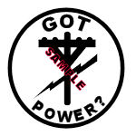 Got Power? Temporary Tattoo - Lineman/ Electrician