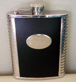 Stainless Steel NICELY ENGRAVED Electrician Flask