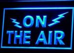 ON THE AIR Radio Neon Blue Light Sign - Amateur Radio Gift