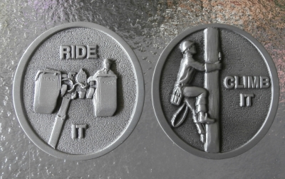 Lineman Decision Flip Coin - Ride It or Climb It? Gift