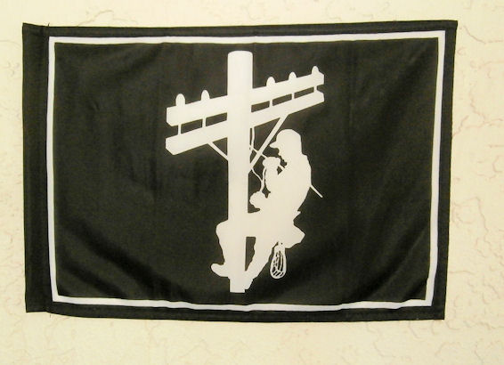 Lineman Flags for truck, shed, boat, cycle! 12 inches x 20 inches