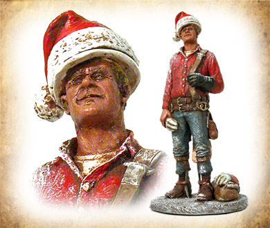 Santa Lineman Christmas Statue - Michael Garman