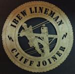 CUSTOM Power Lineman Wall Art Plaque - Laser Cut