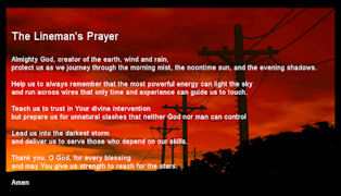 Power Lineman Prayer Cards - Wallet Sized