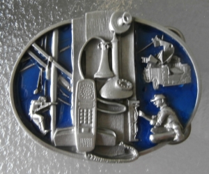 Telephone Lineman Repairman Belt Buckle