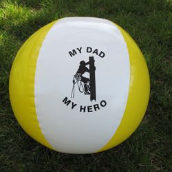 My Dad My Hero Bounce Ball LINEMAN Kids Gift