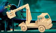 Bucket Truck - Cherry Picker Wood Puzzle 3-D