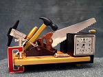 Contractors Workbench Miniature Novelty Gift Clock - FREE SHIP