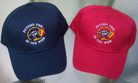 PUTTING FIRE IN THE WIRE Baseball Cap - RED ONLY