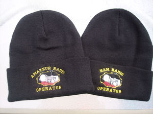 Black Amateur Radio or Ham Radio Operator Beanie Cap