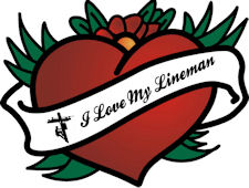 I Love My Lineman DIE-CUT Decal - Beautiful!