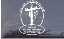 "LARGE God said, Let There Be Light Decal - 8"" x 11"""