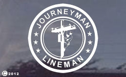 JOURNEYMAN LINEMAN Truck Window Decals