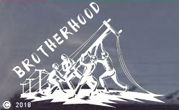 Brotherhood Lineman Window Stickers/Decals WHITE