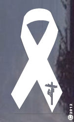 Power Lineman Awareness Ribbon - Decal