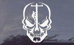 Electric Lineman Skull Window Decal Sticker - Power Linemen