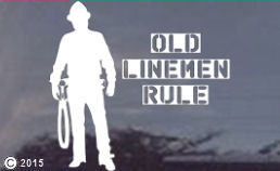 Old Linemen Rule Die-Cut Window Decal
