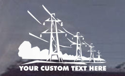 Transmission Tower Line Decals - Free Personalization!