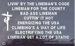 Electric Lineman Decals - WITH Lineman Climbing!