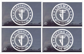 Proud Power Lineman Truck Window Decals - Personalized Also