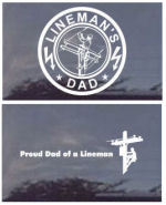 Linemans Dads Decals - Proud Dad of a Lineman?