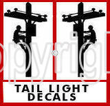 Climbing Lineman Tail Light Decals - A PAIR FOR YOUR TRUCK!