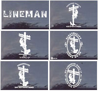Lineman Die Cut SEXY Decals CUSTOM TOO!