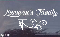 Linemans Family White Vinyl Window Decal