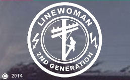 2nd Generation Linewoman Window Decal - Choice of Two!