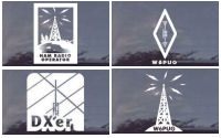 Amateur Radio Operator Decals ARO HAM Decals - B/W
