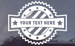 CUSTOM Patriotic Window Decal - YOUR TEXT!