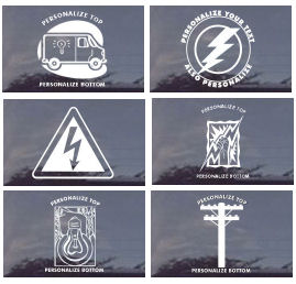 MANY Assorted CUSTOM Electrical Occupations Decals 