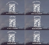 Electrician Vinyl Window Decal: Powerman Decals!