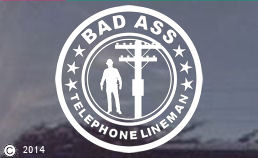 TELEPHONE & CABLE Linemen Decals & Stickers