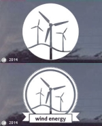 Wind Power / Energy Die Cut Window Decals