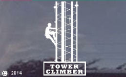 Tower Climber Die-Cut Window Decal -ALSO CUSTOM