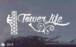 Tower Life Die Cut Window Decal