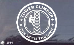 The Sky is the Limit-Tower Climber Decal Sticker - ALSO CUSTOM