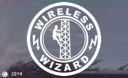 Wireless Wizard Tower Hand Climber Window Decal