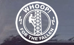 WHOOP! For the Fallen Tower - Technician Window Decal