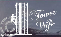 TNT Tower Wife Die Cut Window Decal - Die cut window decals