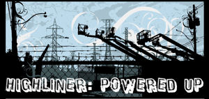 Highliner...Powered Up!  Decal for Transmission Linemen