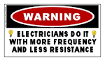 ELECTRICIAN'S DO IT WITH...Warning Sticker