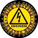CAUTION! High Voltage ENGINEER Decal! $2.45