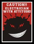 ON SALE! Electrician With Attitude Decal