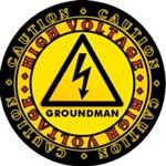 CAUTION! High Voltage GROUNDMAN Decal! Two Sizes