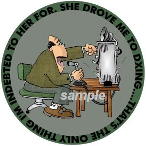 Funny Decal for Amateur Radio Operator - Ham Radio DX'ing