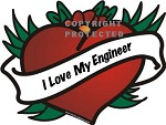 I Love My Engineer DIE-CUT Decal - Beautiful!