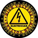 CAUTION! High Voltage Electrician Decal - TWO Sizes